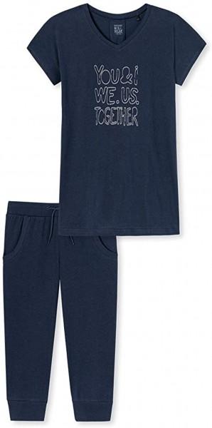 Schiesser Mädchen Zweiteiliger Schlafanzug Anzug kurz 171231-804