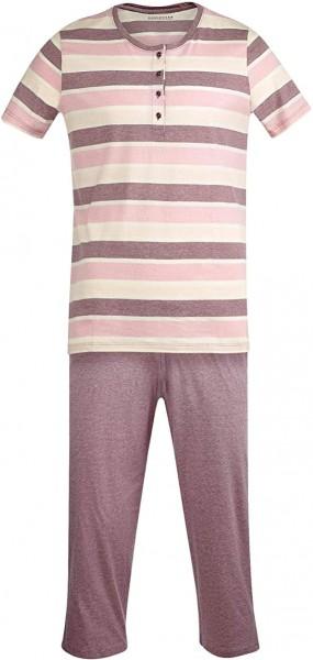 Schiesser Damen Zweiteiliger Schlafanzug 3/4 lang
