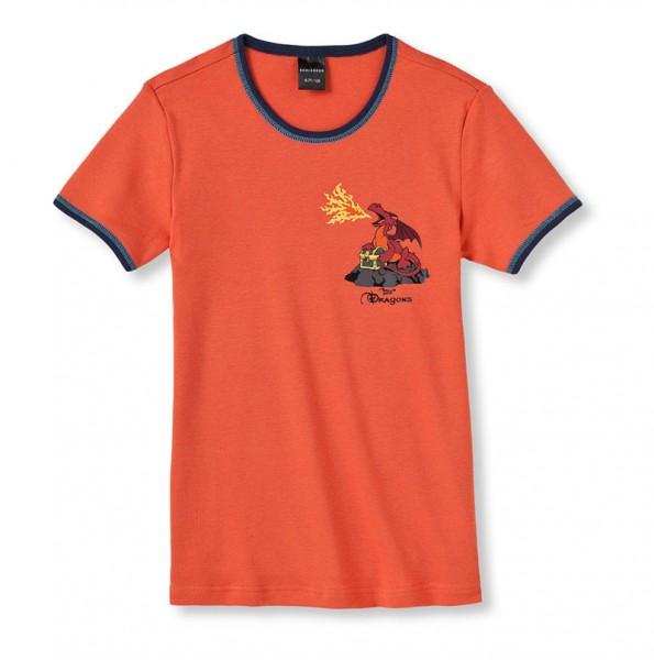 """Jungen Unterhemd 1/2 Arm """"Dragons"""" Schiesser 135753"""