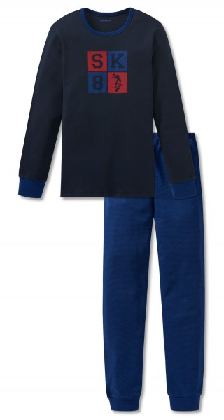 Schiesser Jungen Zweiteiliger Schlafanzug Anzug Lang 167768-804