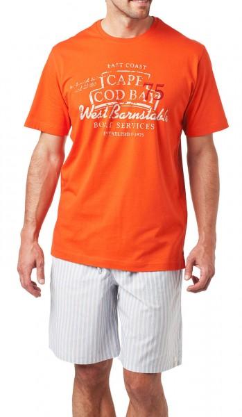 """Herren Shirt Halbarm """"Cape Cod Bay"""" Schiesser 128348"""