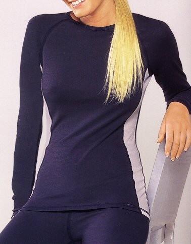Damen Thermowäsche Sport Unterhemd Shirt Langarm Schiesser 020022