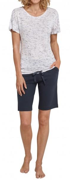 Schiesser Damen Schlafanzug 1/2 Arm Bermuda