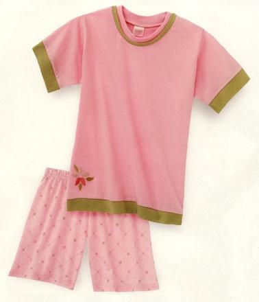 Mädchen Schlafanzug kurz Vichy Flowers Schiesser 108176