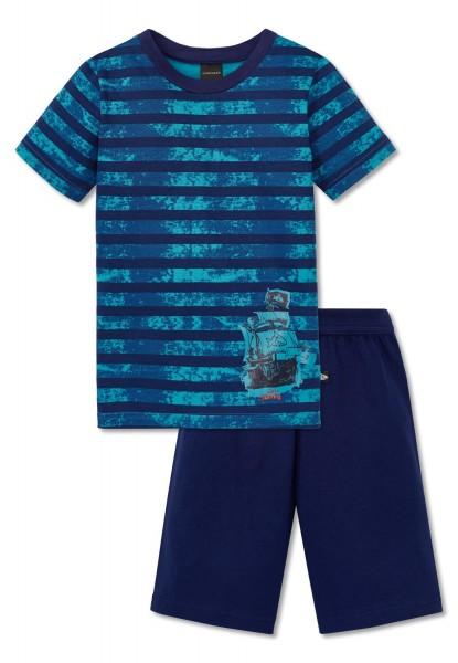 Schiesser Jungen Zweiteiliger Capt´n Sharky Knaben Schlafanzug kurz 161210-800