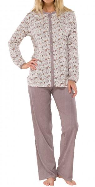 Schiesser Damen Schlafanzug  Pyjama  sekt exklusiv