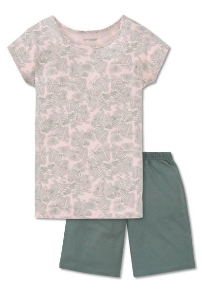 Schiesser Mädchen Zweiteiliger Schlafanzug Anzug kurz 161377-524