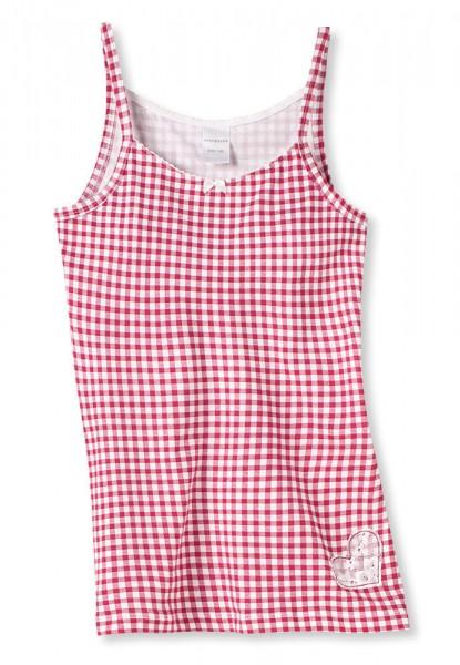 """Mädchen Unterhemd Top ohne Arm 0/0 """"Vichy"""" Schiesser 133254"""