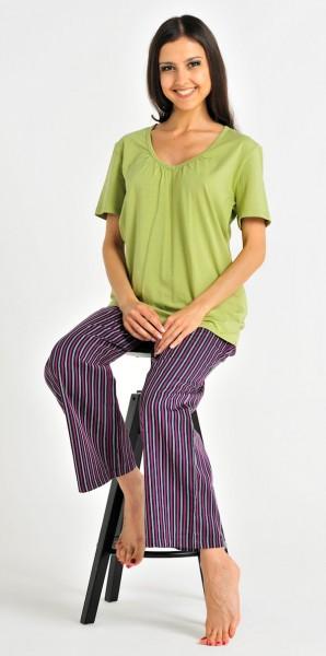 Damen Shirt Hemd Halbarm 1/2 Mix und Relax Bambus Schiesser 121046