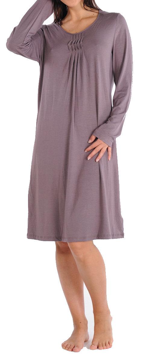 3179b254fb9a0f Damen Nachthemd Sleepshirt Langarm 1/1 Bambus Schiesser 130360   Schiesser  Shop