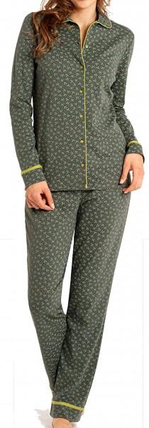 Schiesser Damen Pyjama lang 135896-707