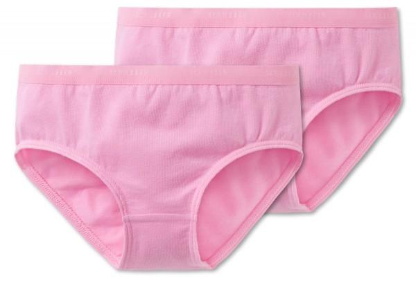 """Zwei Maedchen Slips """"95/5"""" in rosa und weiss Schiesser 159294"""