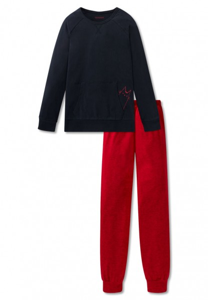 Schiesser Mädchen Zweiteiliger Schlafanzug Anzug lang 167765-804