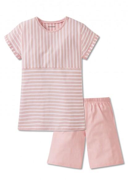 Schiesser Mädchen Zweiteiliger Schlafanzug Anzug kurz 166066-503