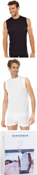 Herren Muscle-Shirt ohne Arm 2er-Pack Schiesser 228010