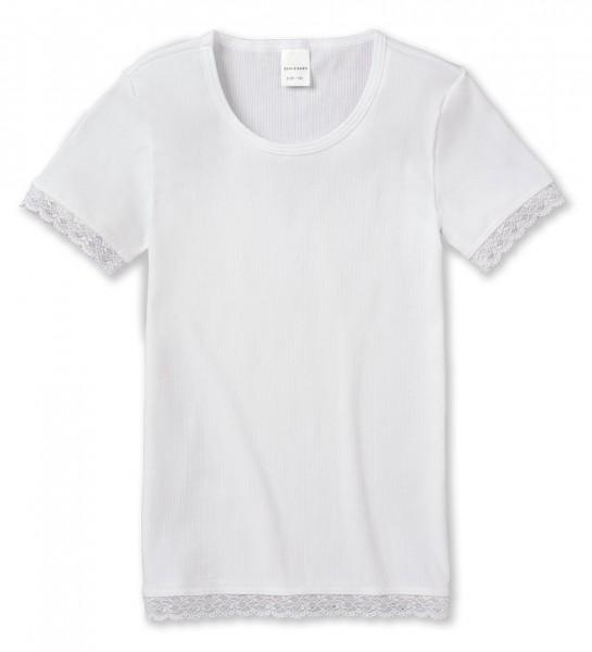 """Mädchen Shirt 1/2 Arm """"Long life cotton"""" weiss Schiesser 143119"""