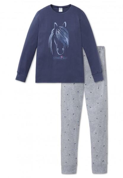 Schiesser Mädchen Zweiteiliger Schlafanzug Anzug lang 163390-803