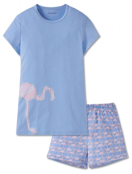 Schiesser Mädchen Zweiteiliger Schlafanzug Anzug kurz 166048-805