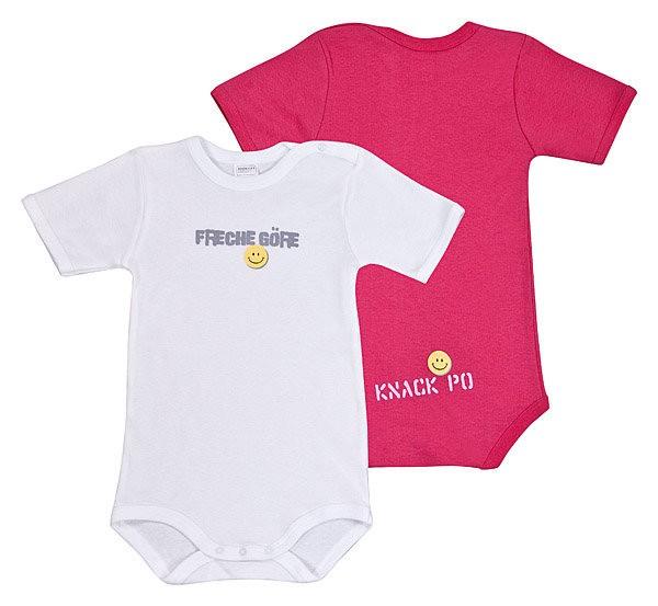 Baby Mädchen Body Halbarm 1/2 2er-Pack Schiesser 124648