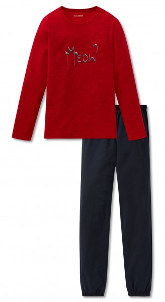 Schiesser Mädchen Zweiteiliger Schlafanzug Anzug lang 167766-500