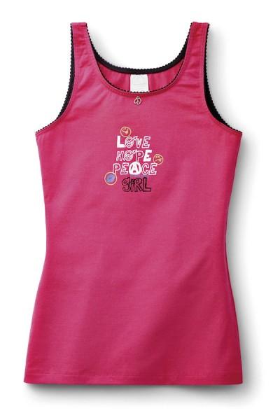 Mädchen Unterhemd Hemd ohne Arm 0/0 Peace Schiesser 124433