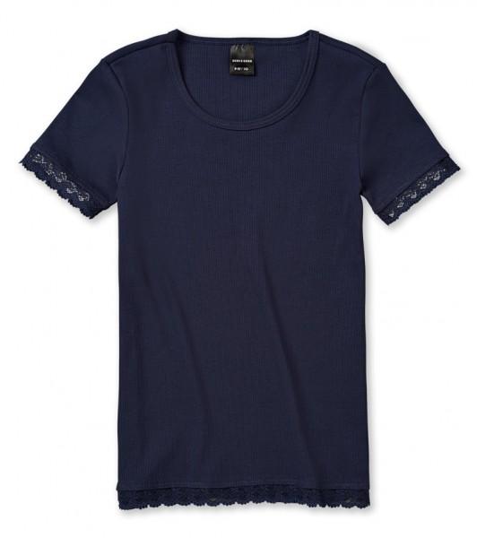 "Mädchen Shirt 1/2 Arm ""Long life cotton"" nachtblau Schiesser 143119"