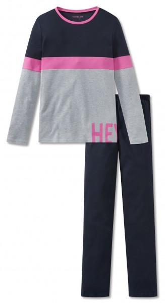 Schiesser Mädchen Zweiteiliger Schlafanzug Anzug lang 167778-804