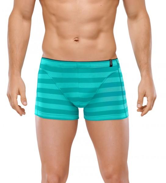 Shorts 95/5 Cotton-Stretch grün-gestreift Schiesser 146769