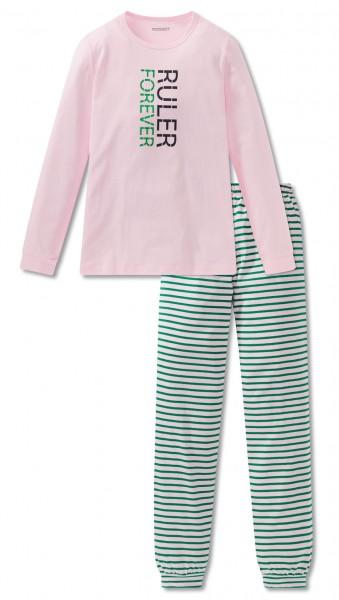 Schiesser Mädchen Zweiteiliger Schlafanzug Anzug lang 167748-503