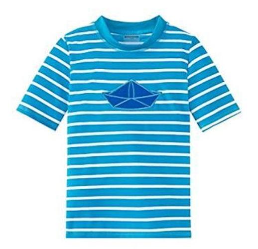 Schiesser Jungen Bade-Shirt Aqua Bade-Shirt 155986-800