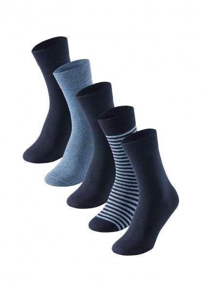 Herrensocken 5er-Pack Stay Fresh nachtblau graumeliert
