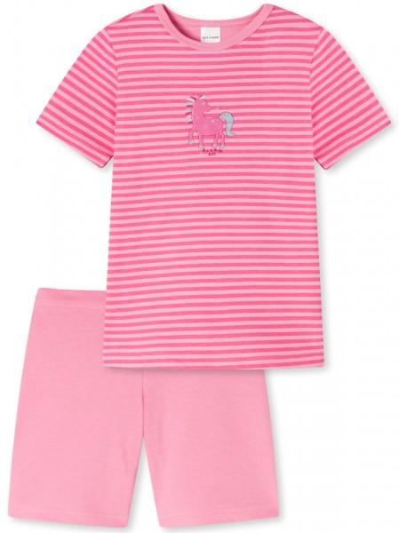 """Schlafanzug kurz """"Pferde"""" - Organic Cotton, in der Farbe rosa"""