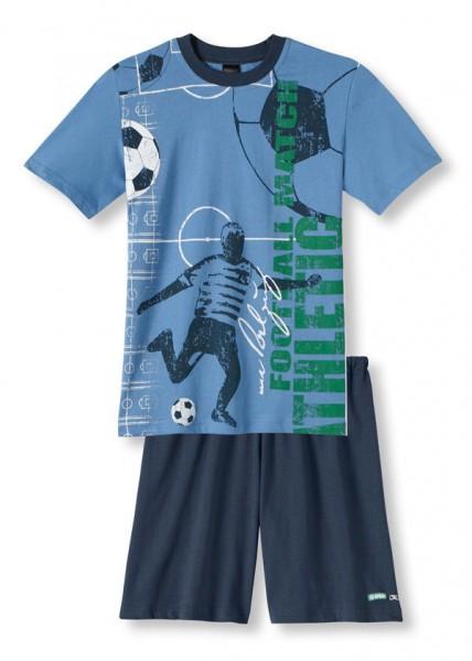 Jungen Schlafanzug kurz Fussball Match Schiesser 127730