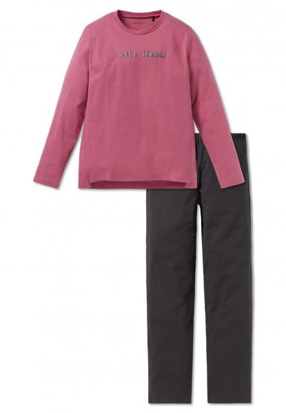 Schiesser Mädchen Zweiteiliger Schlafanzug Anzug lang 163229-525
