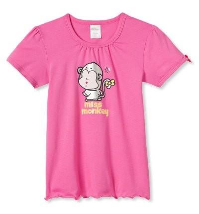 """Mädchen Shirt """"Miss Monkey"""" Schiesser 133144"""