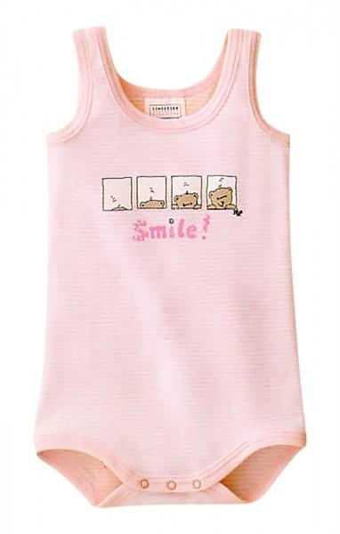 Baby Mädchen Body ohne Arm 0/0 Smile Bär Schiesser 002201