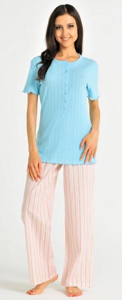Damen Shirt Hemd Halbarm 1/2 Mix und Relax Schiesser 121047