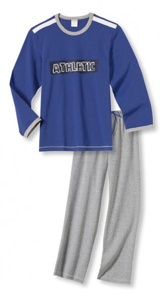 Jungen Schlafanzug lang Athletic Schiesser 127688