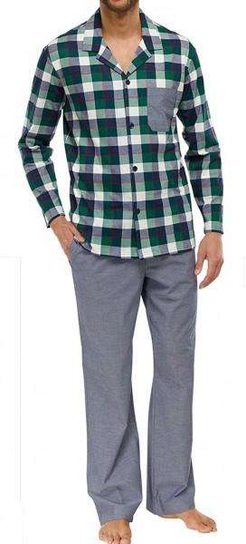 Schiesser Herren Schlafanzug Pyjama lang 149238