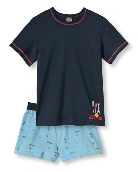 Jungen Schlafanzug kurz Handwerker Schiesser 129465