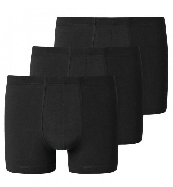 Shorts 3er-Pack Organic Cotton schwarz
