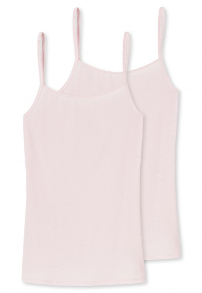Schiesser Damen Unterhemd 'Modal Essentials' Spaghettitop 2er Pack