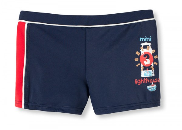 "Jungen Badeshort Bade-Retro "" Mini lighthouse"" Schiesser 131801"
