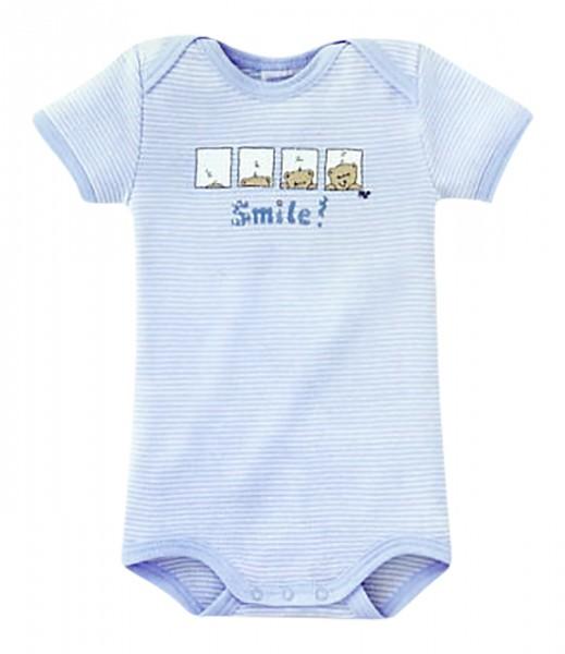 Baby Jungen Body Halbarm 1/2 Smile Bär Schiesser 002202