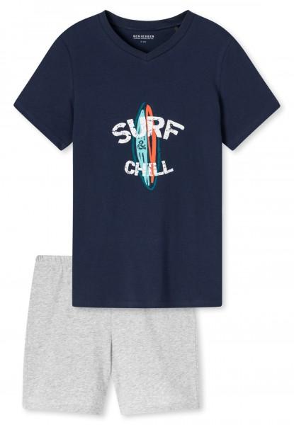 Schiesser Jungen kurzer Schlafanzug Organic Cotton 173371-803