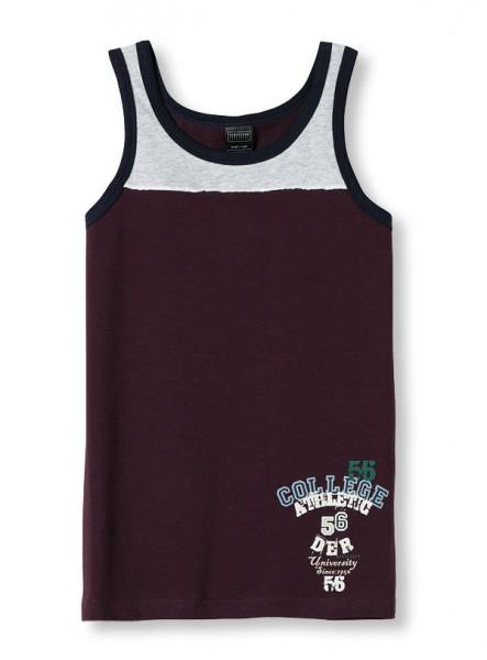Jungen Unterhemd Hemd ohne Arm 0/0 College Athletic Schiesser 124585