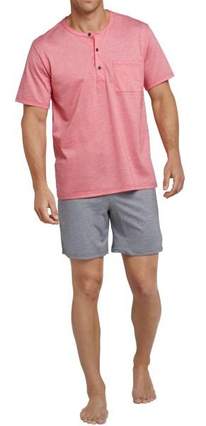 Schiesser Herren Schlafanzug Anzug Kurz