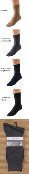 Herren Socken Extrafein 2er Pack Schiesser 137152
