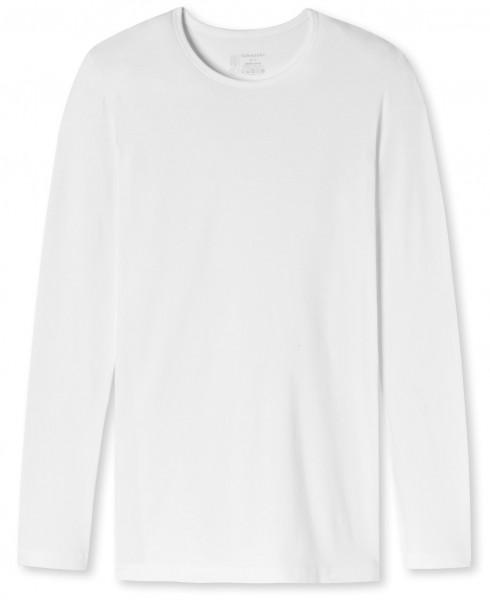 """Shirt Langarm """"Organic Cotton"""" Rundhals Weiß"""