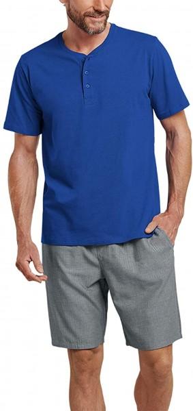 Mix & Relax Herren T-Shirt Knopfleiste 163831-819